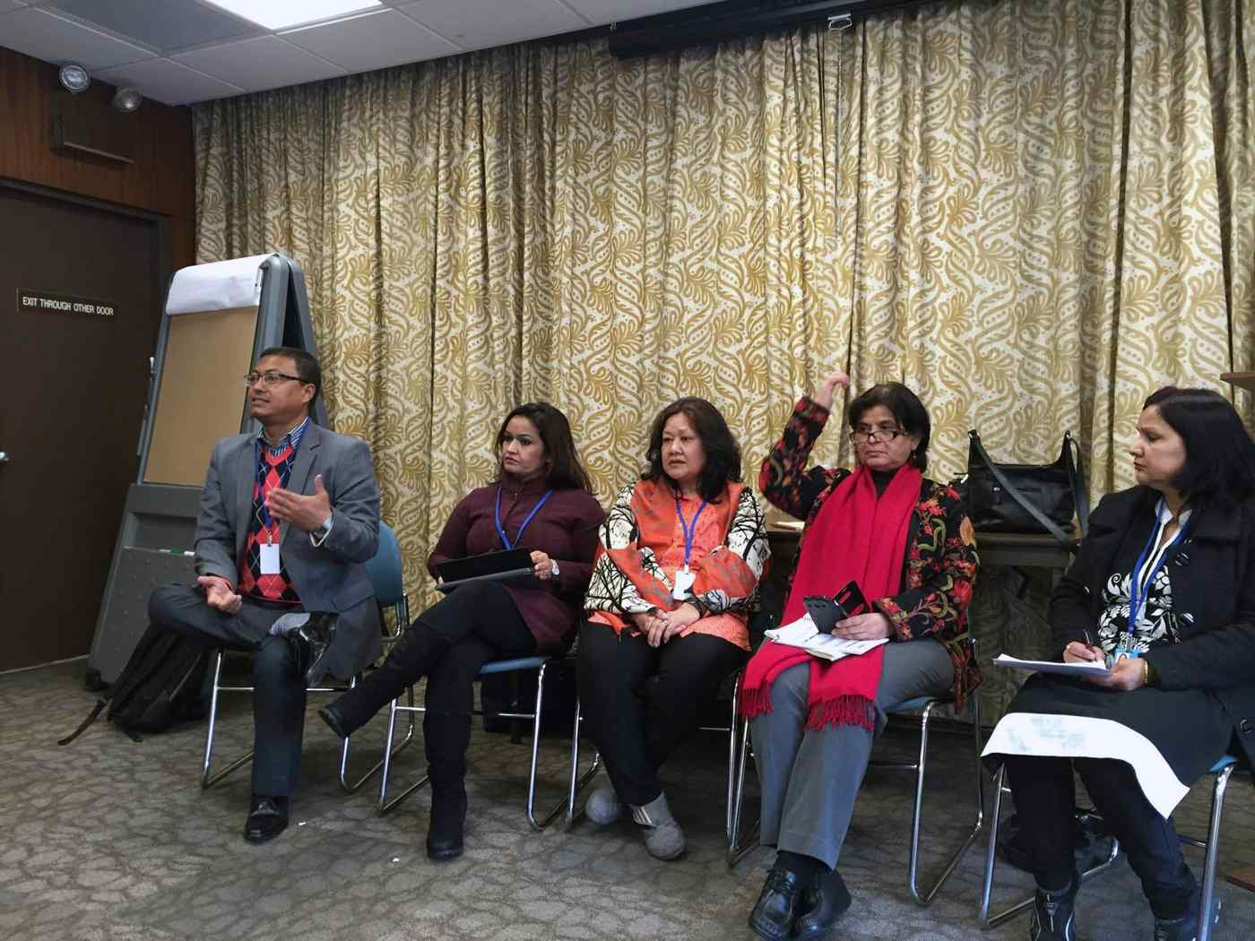 Advocate Sabin Shrestha, Executive Director of FWLD during the session of Access to Justice in CSW in March 2016