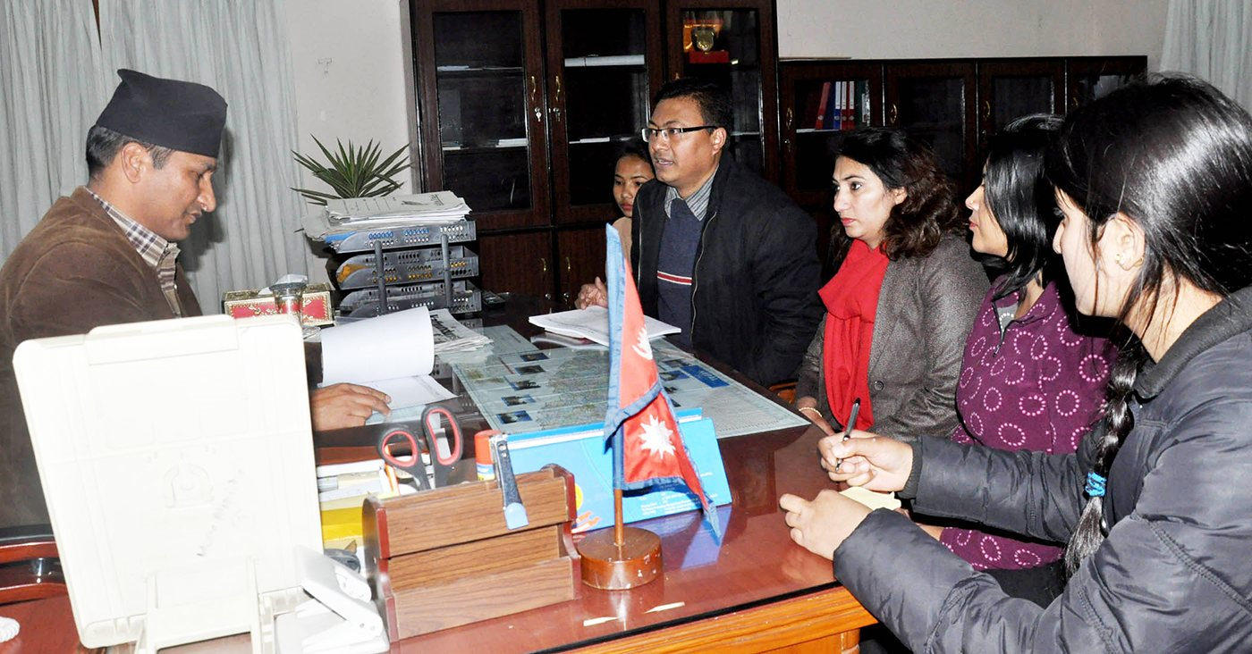 Meeting with Minister of Home Affairs to draft the new citizenship law on January 2016