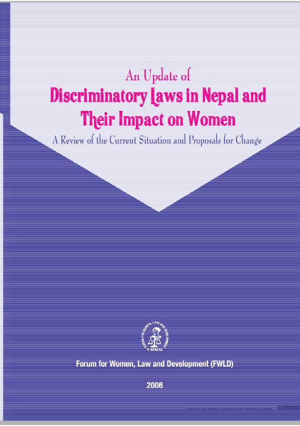 An Update of Discriminatory Laws in Nepal and their impact on Women